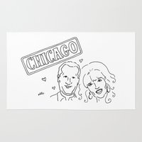 chicago Area & Throw Rugs featuring Chicago by elle stone