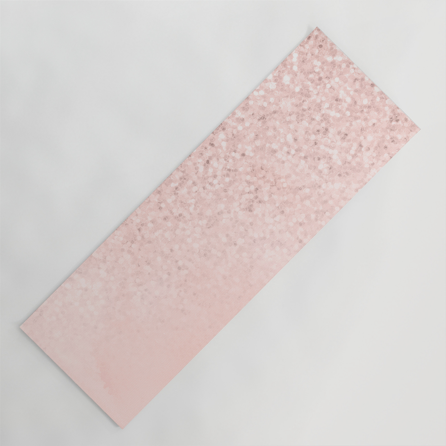 She Sparkles Rose Gold Pastel Light Pink Luxe Yoga Mat By Naturemagick Society6