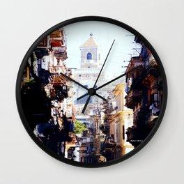 Old Downtown Havana Cuba Wall Clock