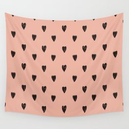 Black hearts Wall Tapestry