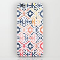 ikat iPhone & iPod Skins featuring Tropical Ikat Damask by micklyn