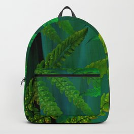 Forest Fern Green Backpack