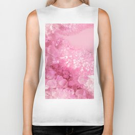 Sweet Pink Crystals Biker Tank