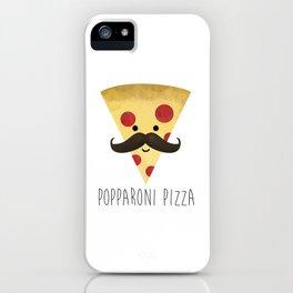 Popparoni Pizza iPhone Case