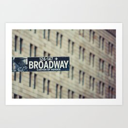 New York: Broadway Art Print