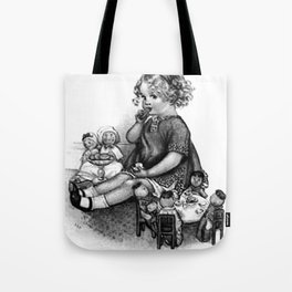 Playing with Dolls Tote Bag
