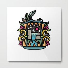 Bite Landscape Metal Print