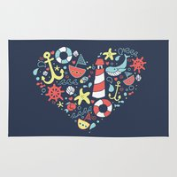 nautical Area & Throw Rugs featuring Nautical by lindsey salles