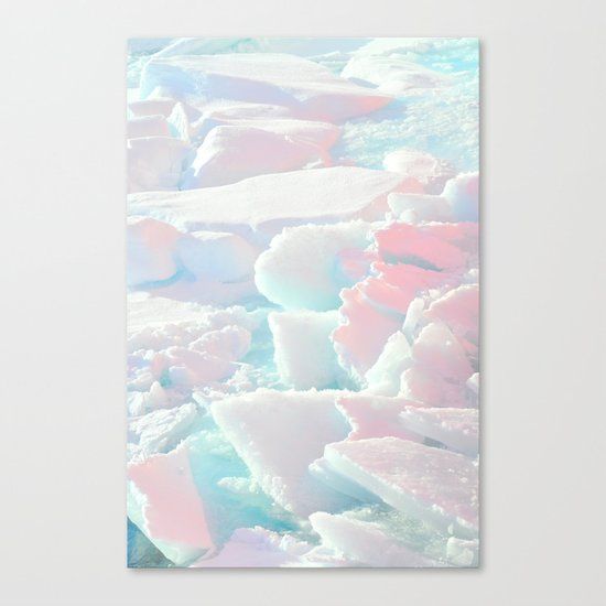 Broken Ice Pastel Texture Canvas Print