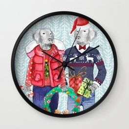 UGLY CHRISTMAS SWEATER WEIMS Wall Clock