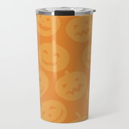 Orange Jack-O-Lanterns Travel Mug