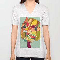 my strange head Unisex V-Neck