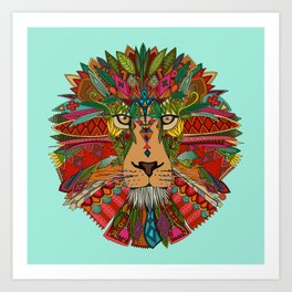 lion mint Art Print