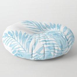 Palm Leaves Light Blue Floor Pillow