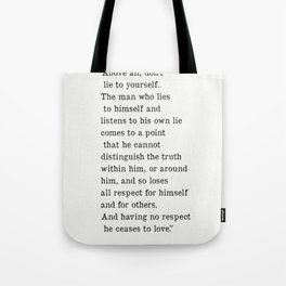 Fyodor Dostoyevsky quote Tote Bag