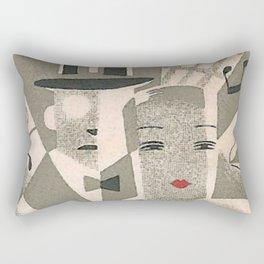 Art Deco Glamour Couple Rectangular Pillow