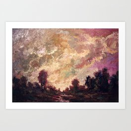 Rosy Clouds Art Print