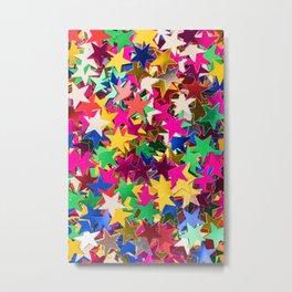 Glitter Stars Sequins Metal Print