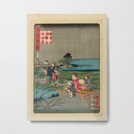 Nansuitei Yoshiyuki - 100 Views of Naniwa: Kobore-guchi (1860s) Metal Print