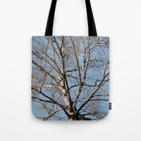 birch Tote Bags featuring Birch by Monica Georg-Buller
