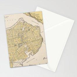 Vintage Map of Havana Cuba (1905) Stationery Cards