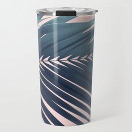 Palm Leaf Blush Vibes #1 #tropical #decor #art #society6 Travel Mug