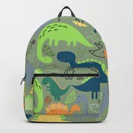 Dinosaurs jungle pattern Backpack