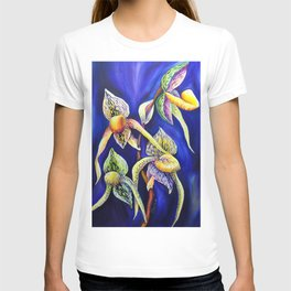 Orchid -  The Paphiopedilum , known as Lady's Slipper T-shirt