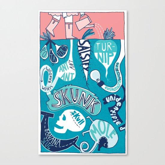 Garden Underground Canvas Print