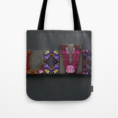 Floral LOVE Tote Bag