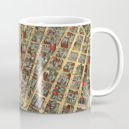 Vintage Pictorial Map of Minneapolis MN (1891) Coffee Mug