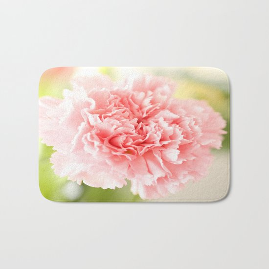Pink Carnation Admiration  Bath Mat