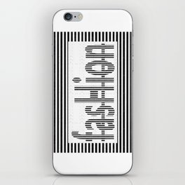Fashion B and W iPhone Skin