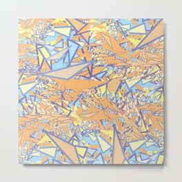 Orange Yellow Blue Metal Print