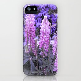 Lively Lupines iPhone Case