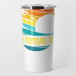 Retro North Topsail Beach Sun & Surf Eighties Graphic   Pullover Hoodie Travel Mug