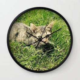Lazy Cat Wall Clock