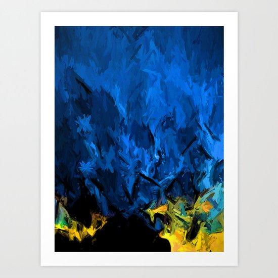 Gold Horizon and Wild Blue Sky Art Print