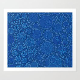 Blue Moon Abstract Texture Art Print