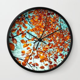 Rustic Autumn Wall Clock