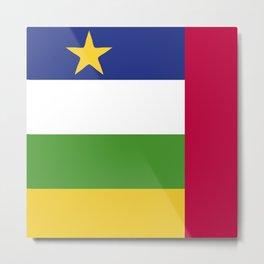 Central African Republic flag emblem Metal Print