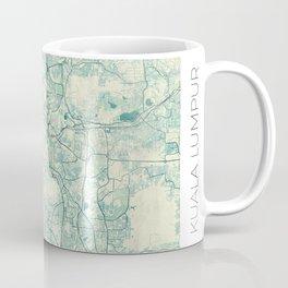 Kuala Lumpur Map Blue Vintage Coffee Mug