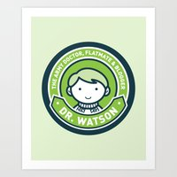 john green Art Prints featuring Cute John Watson - Green by mydeardear