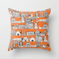 Los Angeles orange Throw Pillow