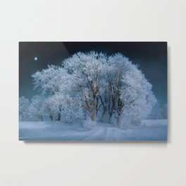 New England Winter Landscape Metal Print