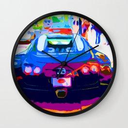 Bugatti Veyron On Rodeo  Wall Clock