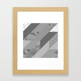 gray pattern Framed Art Print
