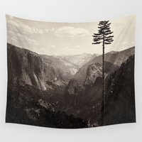 yosemite Wall Tapestries featuring Yosemite Valley, California by Chateau Partay