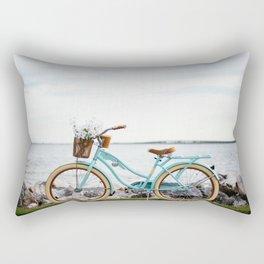 Bike by The Beach Rectangular Pillow