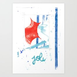 French joli collage Art Print